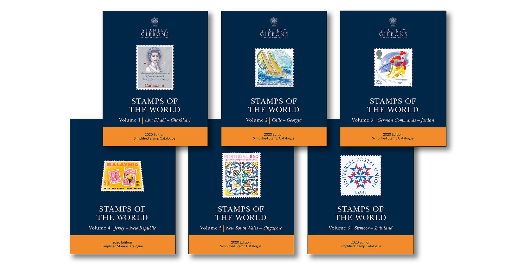 2020 Stamps Of The World - Set Of 6 Catalogues