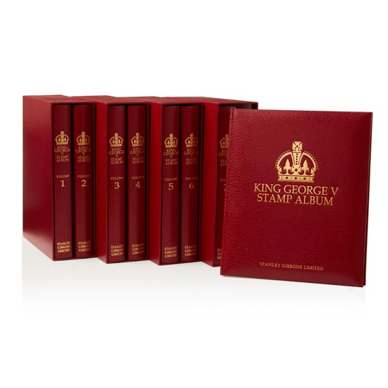 King George V Album Set with Mounts 1910-1936