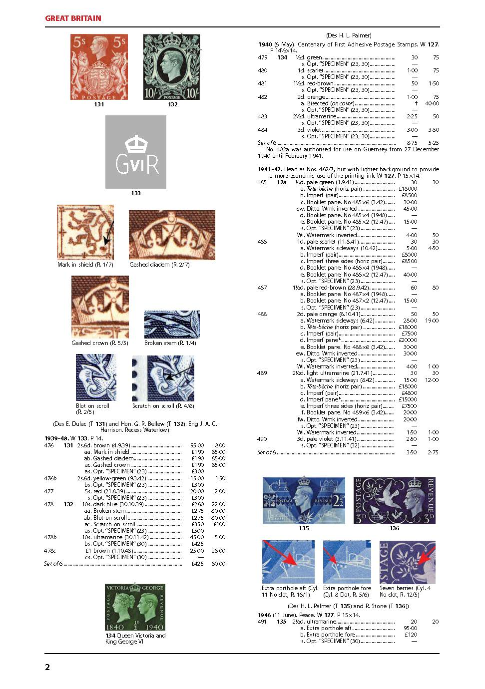 DIGITAL VERSION - King George VI CW Stamp Catalogue 9th Edition