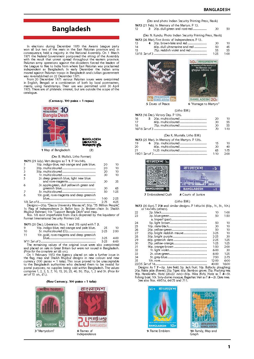 Bangladesh, Burma, Pakistan & Sri Lanka Stamp Catalogue 3rd