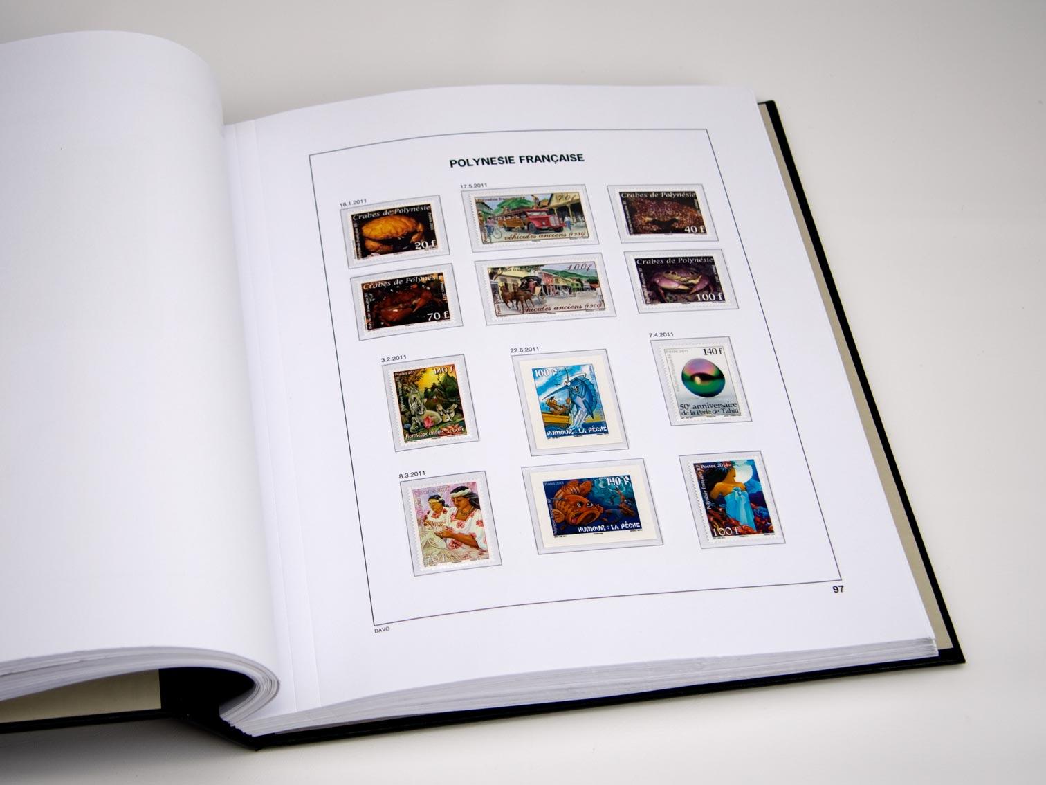 French Polynesia Set Luxe Albums 1958-2020
