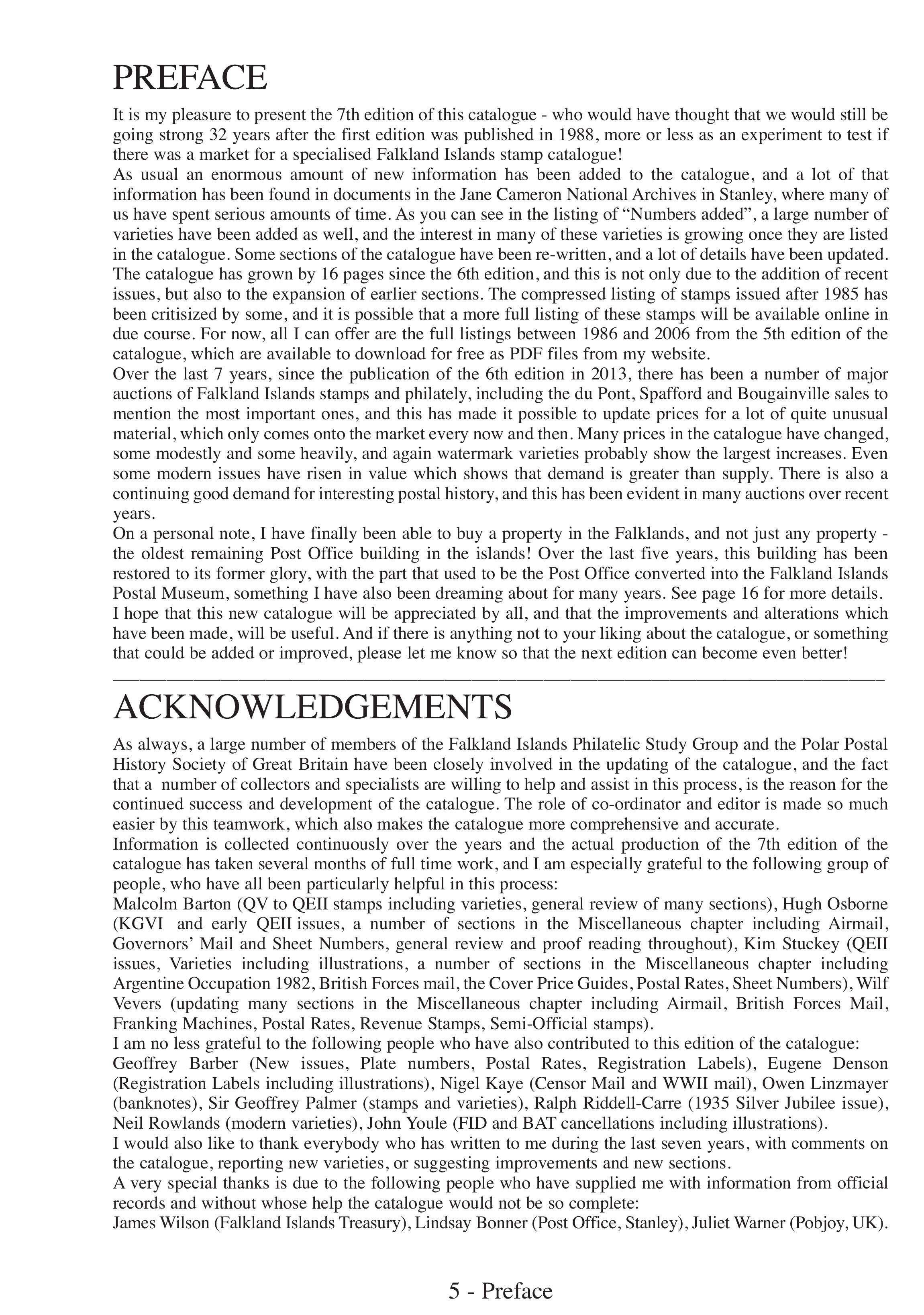 Falkland Islands & Dependencies 1800-2020 7th Edition