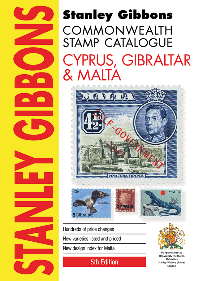 Cyprus, Gibraltar & Malta Stamp Catalogue 5th Edition